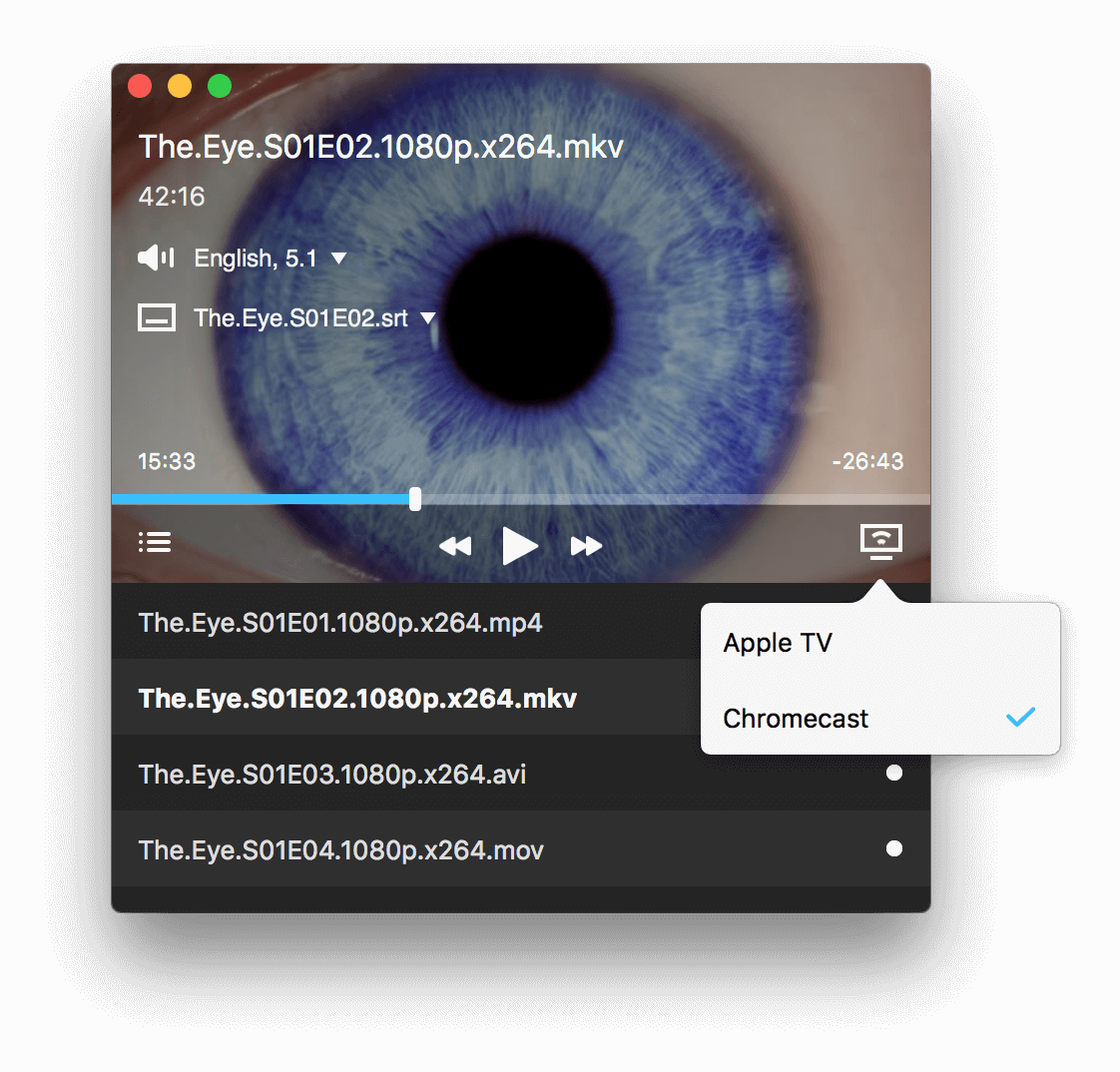 Beamer 3.0 - Stream Video from a Mac to Apple TV and Chromecast Devices Image